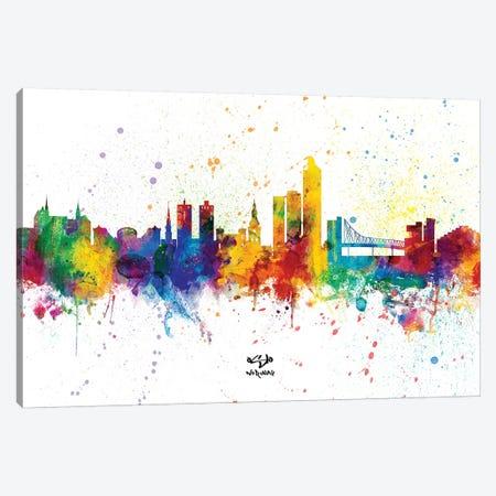 Oslo Norway Skyline Splash Canvas Print #MTO2358} by Michael Tompsett Canvas Art