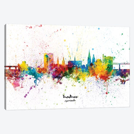 Dundee Scotland Skyline Splash Canvas Print #MTO2360} by Michael Tompsett Canvas Art Print