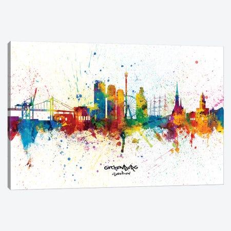 Gothenburg Sweden Skyline Splash Canvas Print #MTO2362} by Michael Tompsett Canvas Art Print