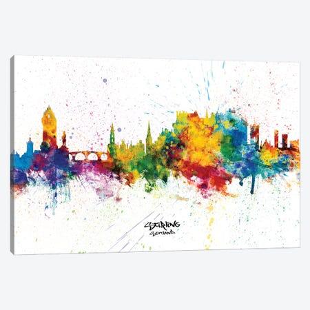 Stirling Scotland Skyline Splash Canvas Print #MTO2366} by Michael Tompsett Canvas Wall Art
