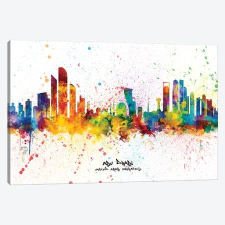 Abu Dhabi Skyline Splash Canvas Print #MTO2372} by Michael Tompsett Canvas Artwork