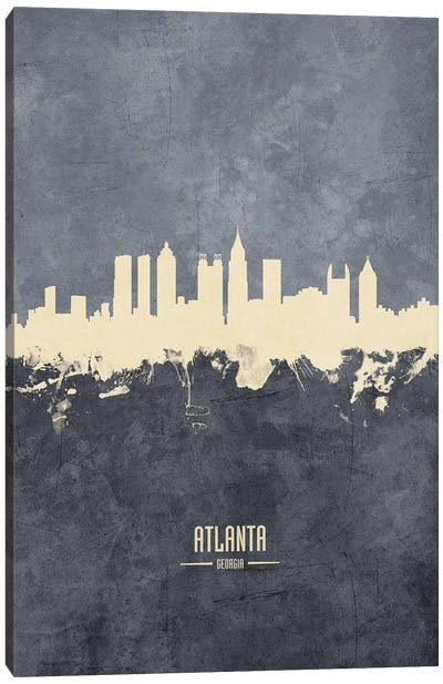 Atlanta Georgia Skyline Grey Canvas Art Print