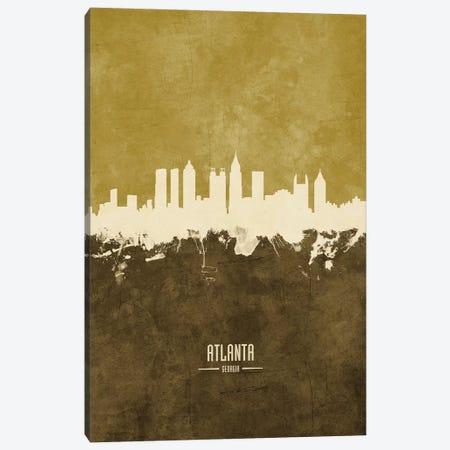 Atlanta Georgia Skyline Ochre Canvas Print #MTO2387} by Michael Tompsett Canvas Wall Art