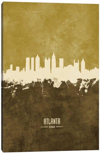 Atlanta Georgia Skyline Ochre Canvas Art Print