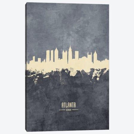 Atlanta Georgia Skyline Grey Canvas Print #MTO2393} by Michael Tompsett Canvas Wall Art