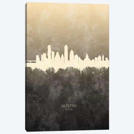 Austin Texas Skyline Taupe Canvas Print #MTO2395} by Michael Tompsett Art Print