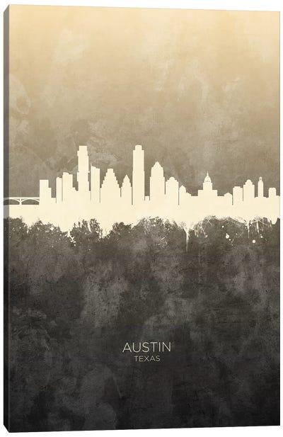 Austin Texas Skyline Taupe Canvas Art Print