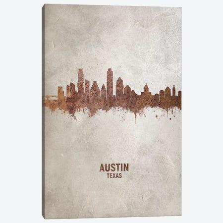 Austin Texas Skyline Rust Canvas Print #MTO2398} by Michael Tompsett Canvas Artwork