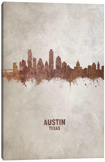 Austin Texas Skyline Rust Canvas Art Print