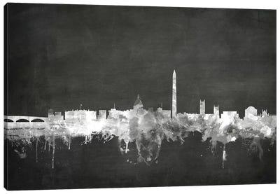 Blackboard Skyline Series: Washington, D.C., USA Canvas Print #MTO23