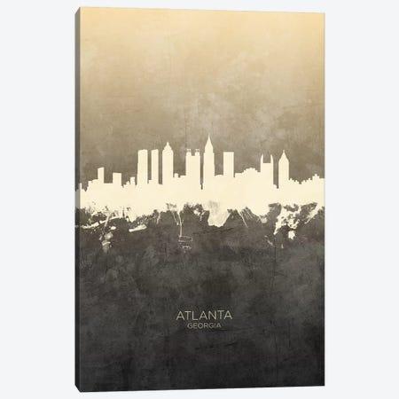 Atlanta Georgia Skyline Taupe Canvas Print #MTO2400} by Michael Tompsett Canvas Wall Art