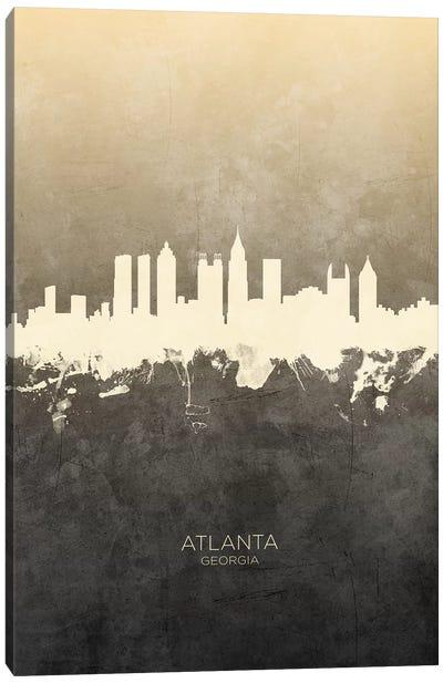 Atlanta Georgia Skyline Taupe Canvas Art Print