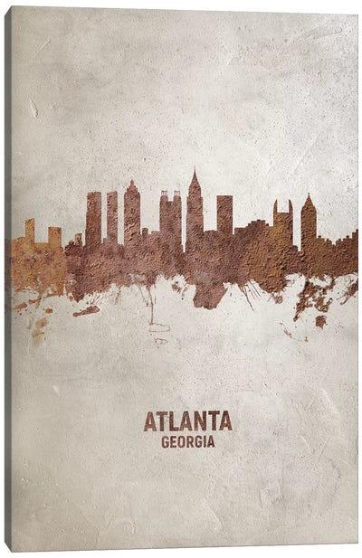 Atlanta Georgia Skyline Rust Canvas Art Print