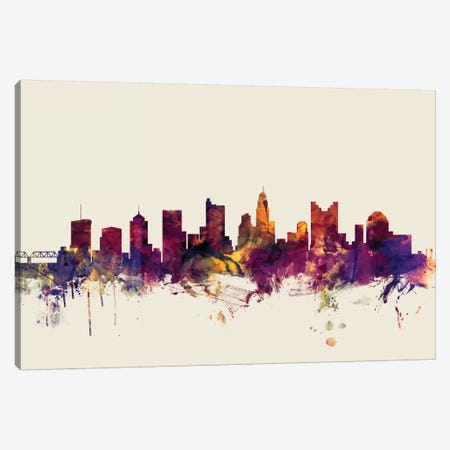 Columbus, Ohio, USA On Beige Canvas Print #MTO240} by Michael Tompsett Canvas Print