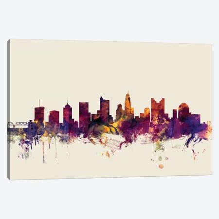 Columbus, Ohio, USA On Beige Canvas Print #MTO240} by Michael Tompsett Canvas Print