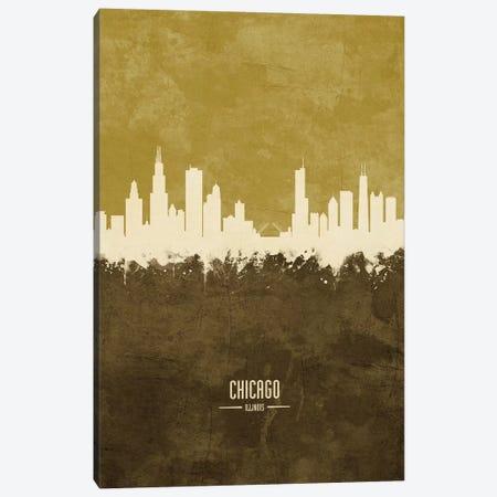 Chicago Illinois Skyline Ochre Canvas Print #MTO2411} by Michael Tompsett Canvas Print