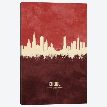 Chicago Illinois Skyline Burgandy Canvas Print #MTO2412} by Michael Tompsett Canvas Print