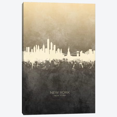 New York New York Skyline Taupe Canvas Print #MTO2423} by Michael Tompsett Canvas Artwork