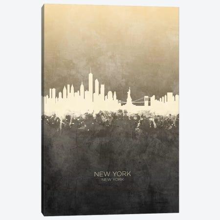 New York New York Skyline Taupe Canvas Print #MTO2423} by Michael Tompsett Canvas Artwork