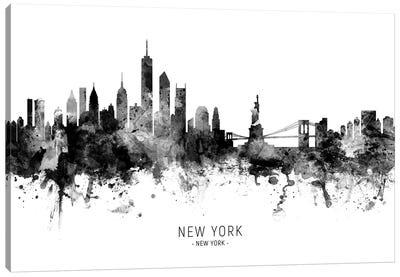New York Skyline Black And White Canvas Art Print