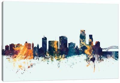 Skyline Series: Corpus Christie, Texas, USA On Blue Canvas Print #MTO243