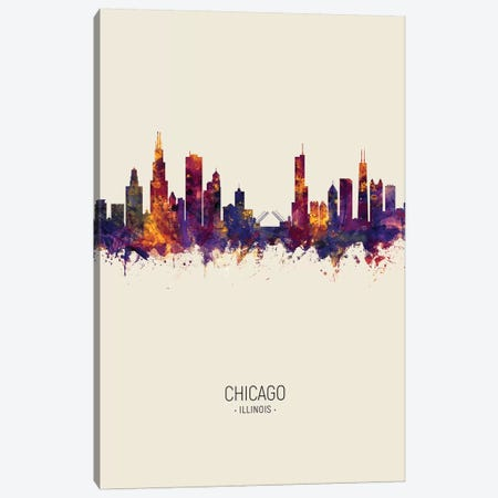 Chicago Illinois Skyline Fall Canvas Print #MTO2446} by Michael Tompsett Canvas Print