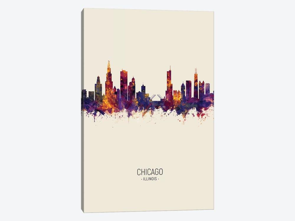 Chicago Illinois Skyline Fall by Michael Tompsett 1-piece Canvas Wall Art