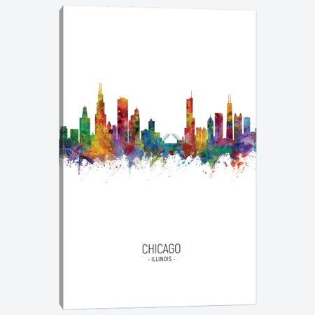 Chicago Illinois Skyline Portrait Canvas Print #MTO2447} by Michael Tompsett Canvas Print
