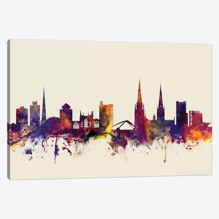 Coventry, England, United Kingdom On Beige Canvas Print #MTO244} by Michael Tompsett Canvas Wall Art