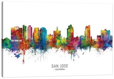 San Jose California Skyline City Name Canvas Art Print