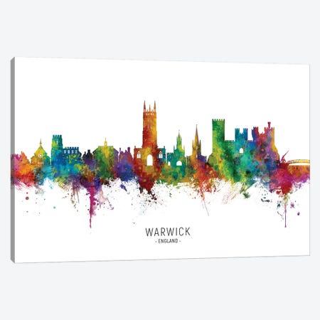 Warwick England Skyline City Name Canvas Print #MTO2466} by Michael Tompsett Canvas Print