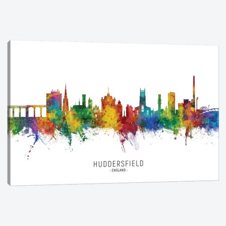 Huddersfield England Skyline City Name Canvas Print #MTO2467} by Michael Tompsett Art Print