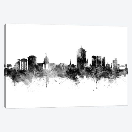 Montgomery Alabama Skyline Black And White Canvas Print #MTO2468} by Michael Tompsett Canvas Wall Art