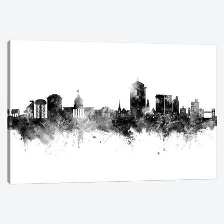 Montgomery Alabama Skyline Black And White Canvas Print #MTO2468} by Michael Tompsett Canvas Wall Art