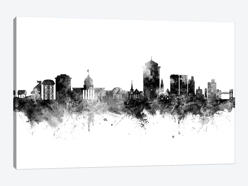 Montgomery Alabama Skyline Black And White by Michael Tompsett 1-piece Canvas Art