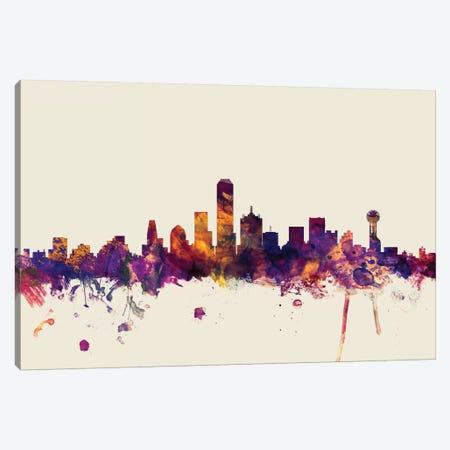Dallas, Texas, USA On Beige 3-Piece Canvas #MTO246} by Michael Tompsett Canvas Artwork