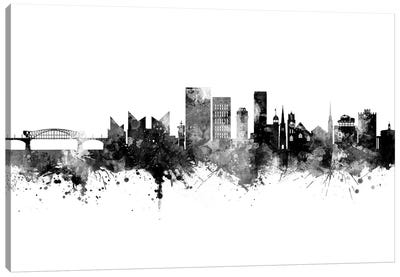 Chattanooga Tennessee Skyline Black And White Canvas Art Print