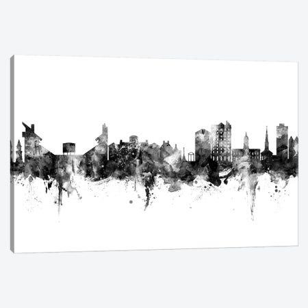 Athens Georgia Skyline Black And White Canvas Print #MTO2473} by Michael Tompsett Canvas Print