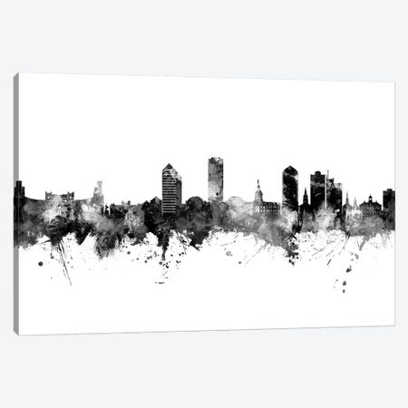 Tallahassee Florida Skyline Black And White Canvas Print #MTO2475} by Michael Tompsett Canvas Artwork