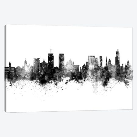 Syracuse New York Skyline Black And White Canvas Print #MTO2477} by Michael Tompsett Canvas Artwork