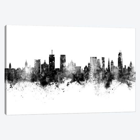 Syracuse New York Skyline Black And White Canvas Print #MTO2477} by Michael Tompsett Canvas Artwork