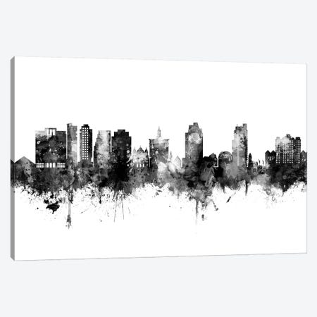 San Jose California Skyline Black And White Canvas Print #MTO2478} by Michael Tompsett Canvas Print