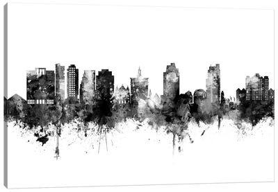 San Jose California Skyline Black And White Canvas Art Print