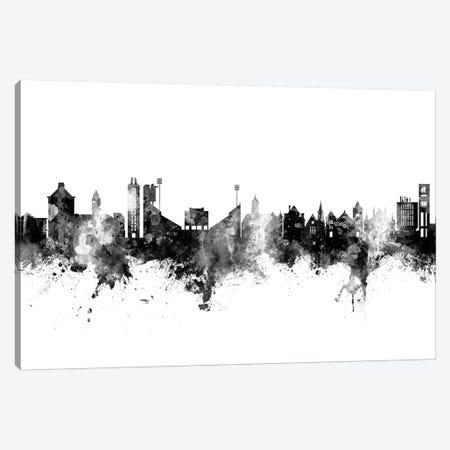 Lawrence Kansas Skyline Black And White Canvas Print #MTO2481} by Michael Tompsett Canvas Art