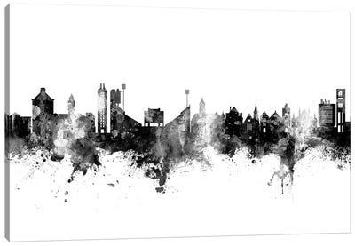 Lawrence Kansas Skyline Black And White Canvas Art Print