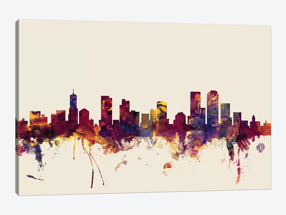 Denver, Colorado, USA On Beige by Michael Tompsett 1-piece Canvas Art