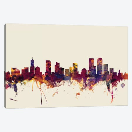 Denver, Colorado, USA On Beige Canvas Print #MTO248} by Michael Tompsett Canvas Art Print