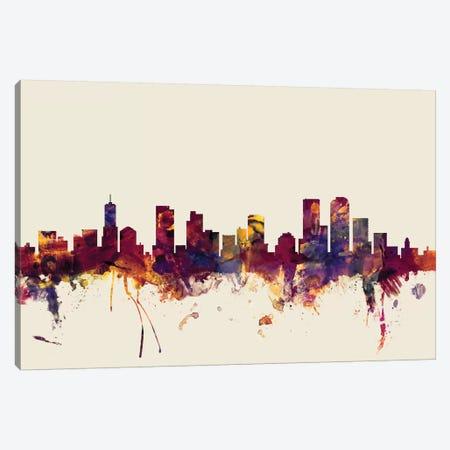 Denver, Colorado, USA On Beige Canvas Print #MTO248} by Michael Tompsett Canvas Art Print