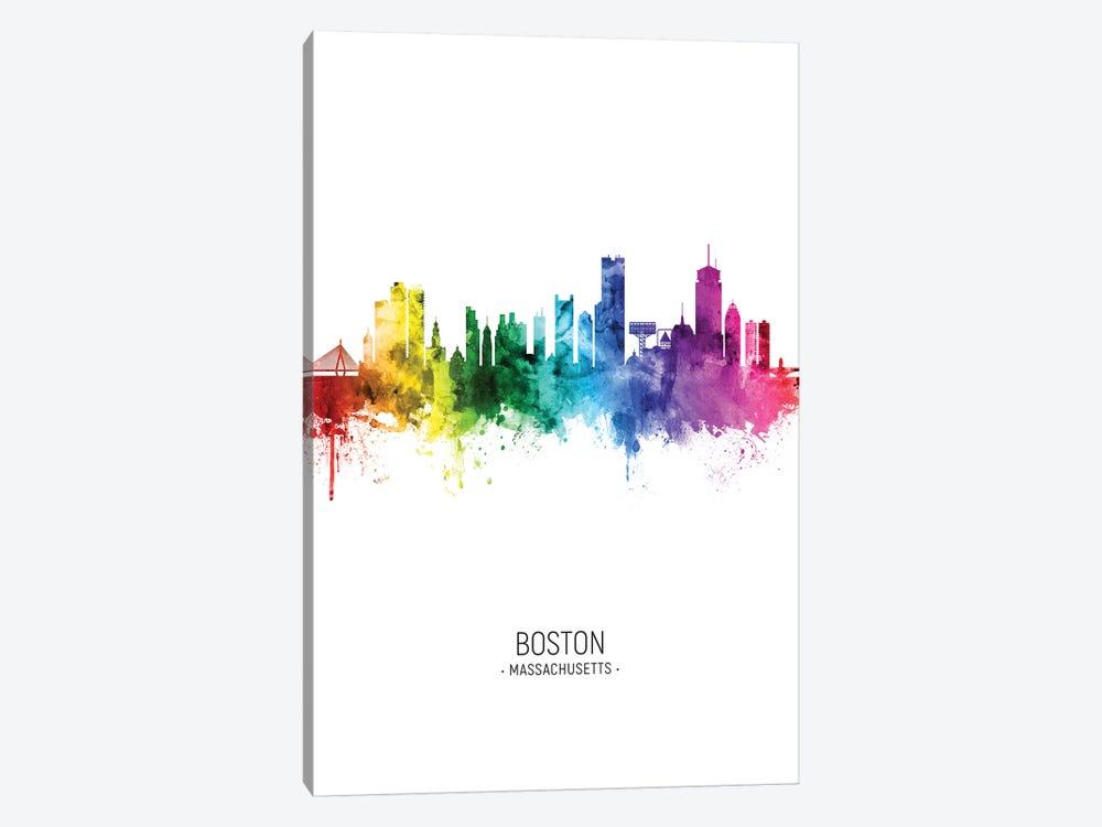 Boston Skyline Rainbow Tall by Michael Tompsett 1-piece Art Print