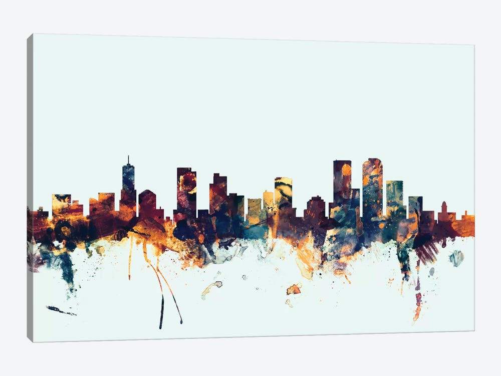 Denver, Colorado, USA On Blue by Michael Tompsett 1-piece Art Print
